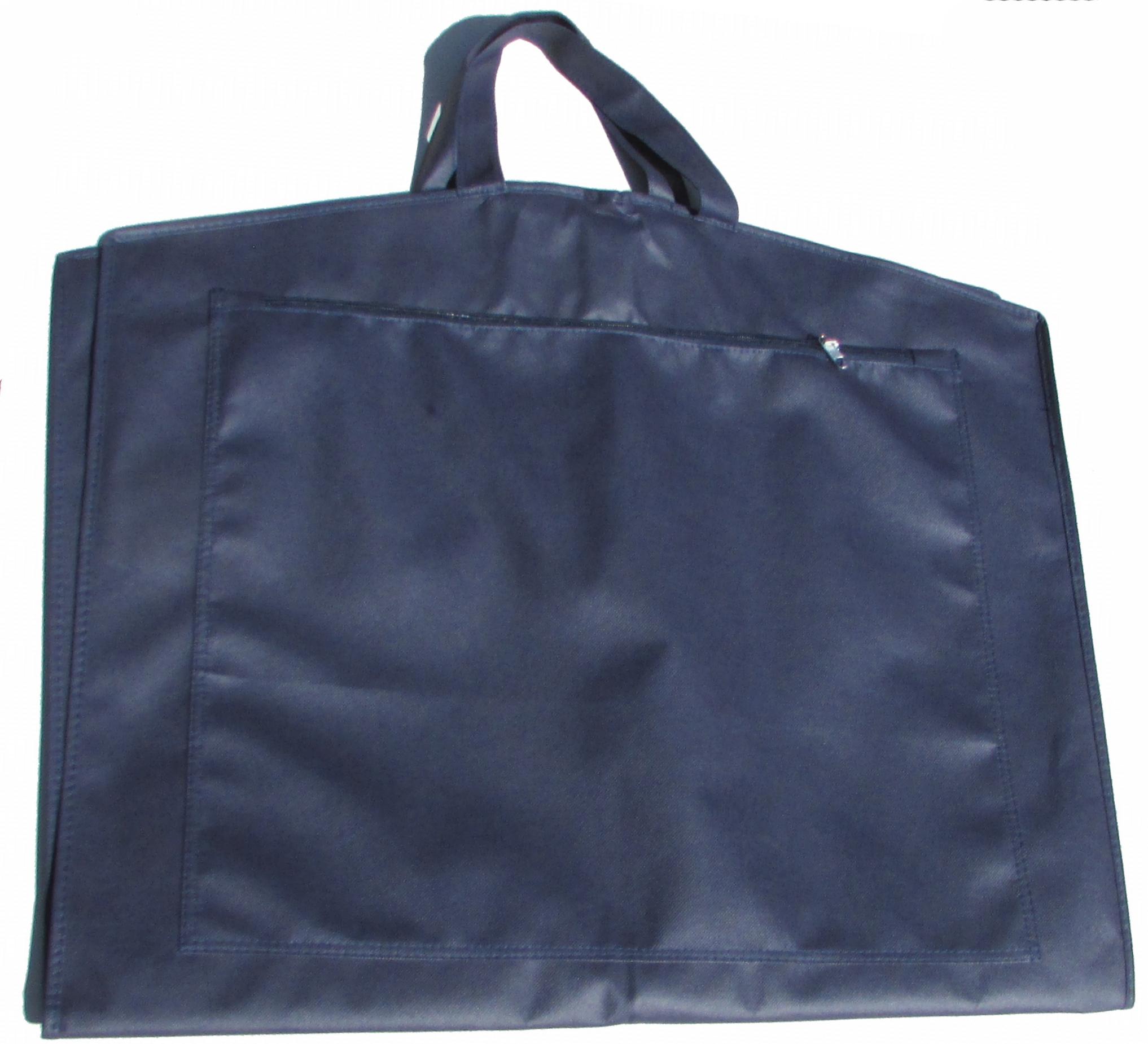 Dragtpose med lynlåslomme foran