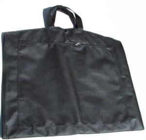 Sort Dragtpose med lynlåslomme foran.
